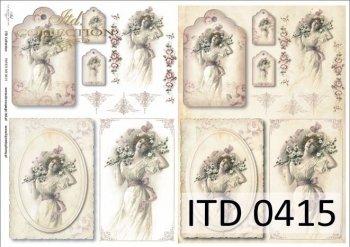 бумага для декупажа классическая D0415