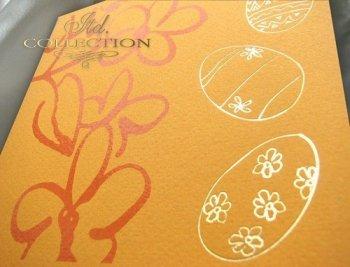 Пасхальная открытка с конвертом KW081