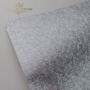 бумага для скрапбукинга PSS039 - структурная бумага - серебро A4