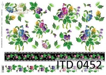бумага для декупажа классическая D0452