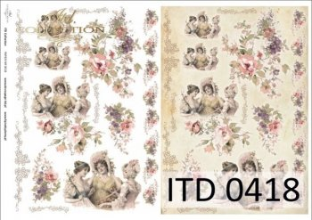 бумага для декупажа классическая D0418M