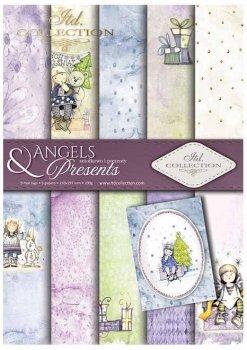 Скрапбукинг бумаги SCRAP-022 ''Ангелы и подарки