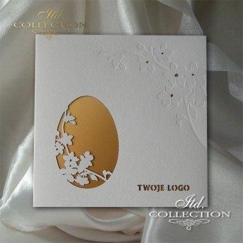 Пасхальная открытка с конвертом KW264