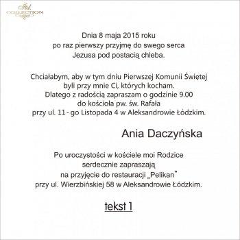 .text pro První Svaté Přijímání - TK1