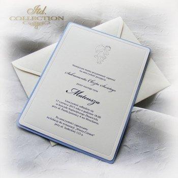 Приглашение на Святое Крещение 1748 ангел синий