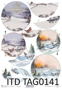 бумага для новогодних и рождественских шаров TAG0141