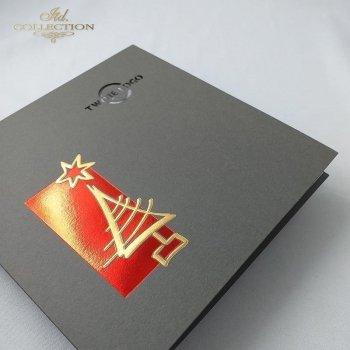 Рождественская и Новогодняя открытка K639