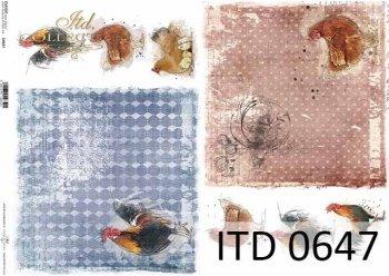 бумага для декупажа классическая D0647