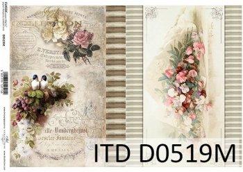 Papier für Serviettentechnik und Decoupage D0519M
