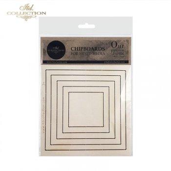 Laserschnitt-Elemente aus Bastelkarton T024A