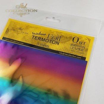 Metallische Folie Termoton - Regenbogen
