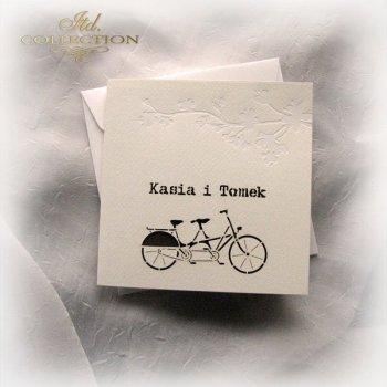 Einladungskarten / Hochzeitskarte 1723_32_braun