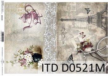 Papier für Serviettentechnik und Decoupage D0521M