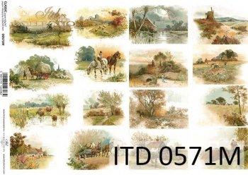 Decoupage paper ITD D0571M