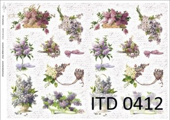 Decoupage paper ITD D0412