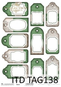 Tags, frames to scrapbooking TAG0138