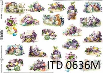 Decoupage paper ITD D0636M