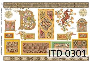 Decoupage paper ITD D0301