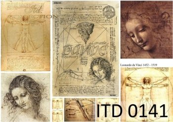 Decoupage Paper ITD 0141M