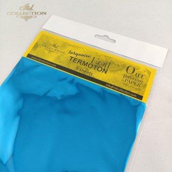 metallic foil Termoton * turquoise