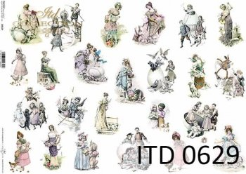 Decoupage paper ITD D0629