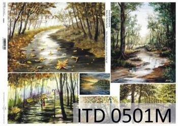 Decoupage paper ITD D0501M