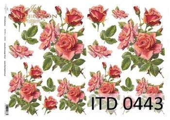 Decoupage paper ITD D0443