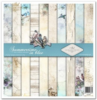 Scrapbooking papers SLS-006 ''Summertime in blue''