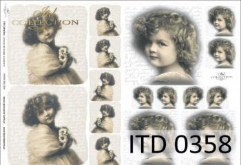 Decoupage paper ITD D0358M