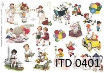 Decoupage paper ITD D0401M