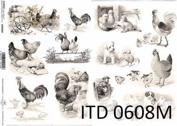 Decoupage paper ITD D0608M