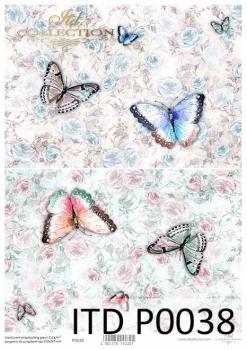 Translucent scrapbooking paper P0038