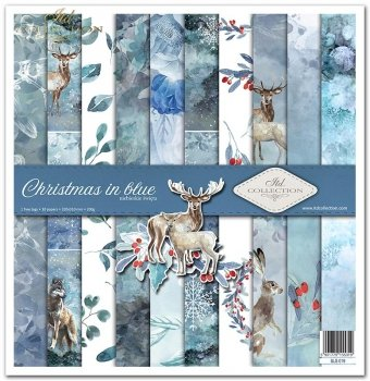 Scrapbooking papers SLS-019 ''Christmas in blue''