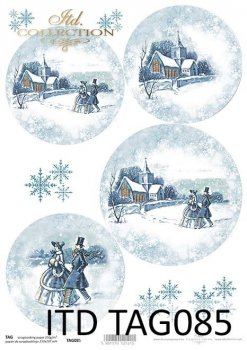 Cardboard for Christmas balls TAG0085