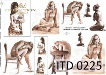 Decoupage paper ITD D0225