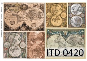 Decoupage paper ITD D0420