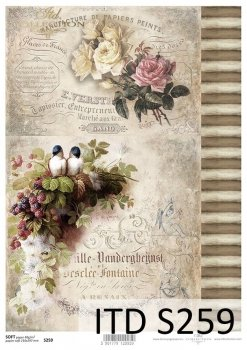 Decoupage paper Soft ITD S0259