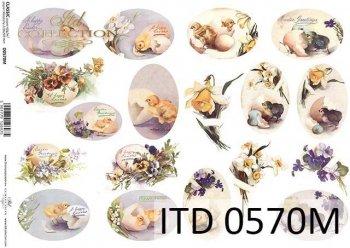Decoupage paper ITD D0570M