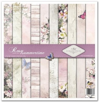 Scrapbooking papers SLS-007 ''Rosy Summertime''