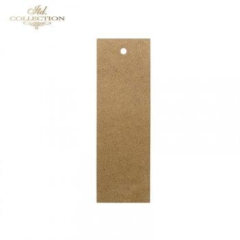 HDF012 Rectangular bookmark 15 cm x 5 cm, for decoupage.