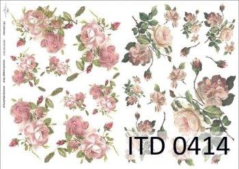 Decoupage paper ITD D0414