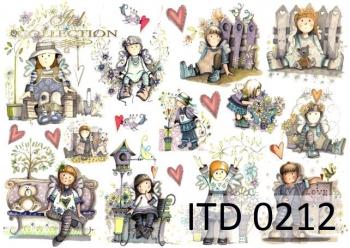Decoupage paper ITD D0212M