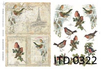 Decoupage Paper ITD D0322