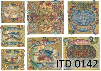 Decoupage paper ITD 0142M