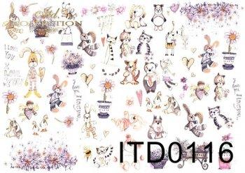 Decoupage paper ITD D0116