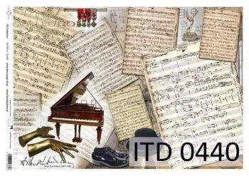 Decoupage paper ITD D0440M