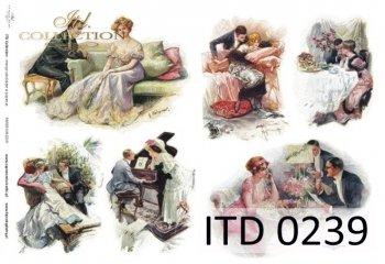 Decoupage paper ITD D0239M