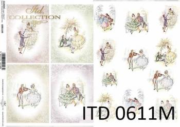 Decoupage paper ITD D0611M