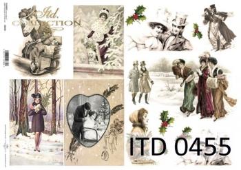 Decoupage paper ITD D0455M