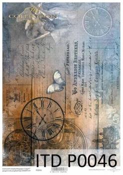 Translucent scrapbooking paper P0046